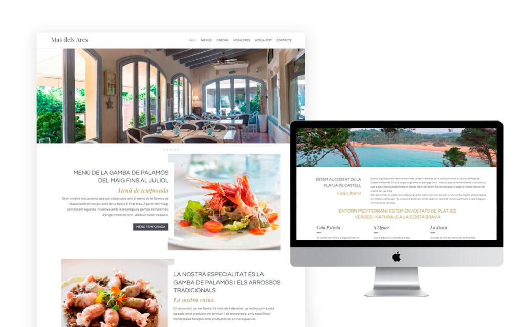 Web de Mas dels Arcs - Restaurant Palamós